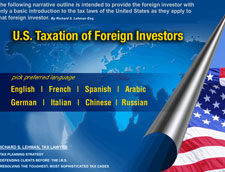 General Overview of United States Taxation of Foreign Investors